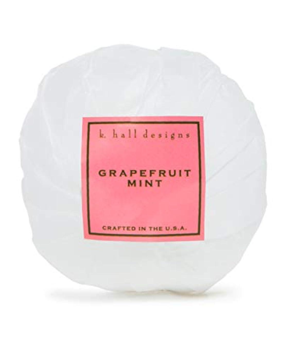 悩むマグ効能あるk.hall designs/バスボム(入浴剤) グレープフルーツミント