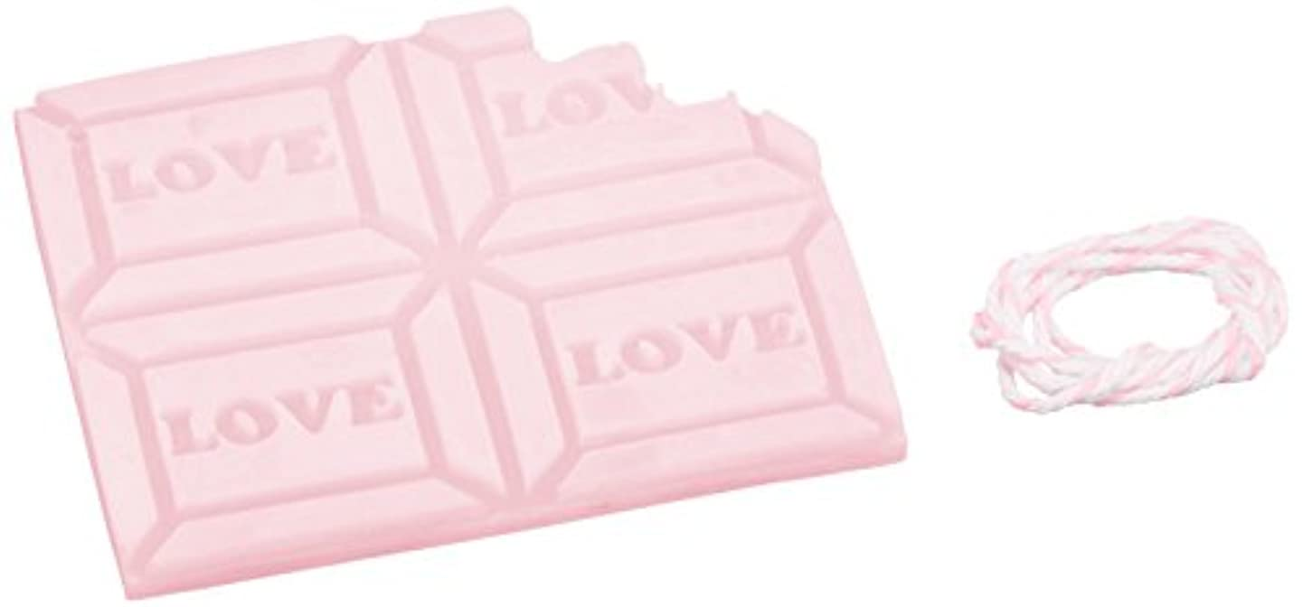 重荷改善するフラスコGRASSE TOKYO AROMATICWAXチャーム「板チョコ(LOVE)」(PI) ゼラニウム アロマティックワックス グラーストウキョウ