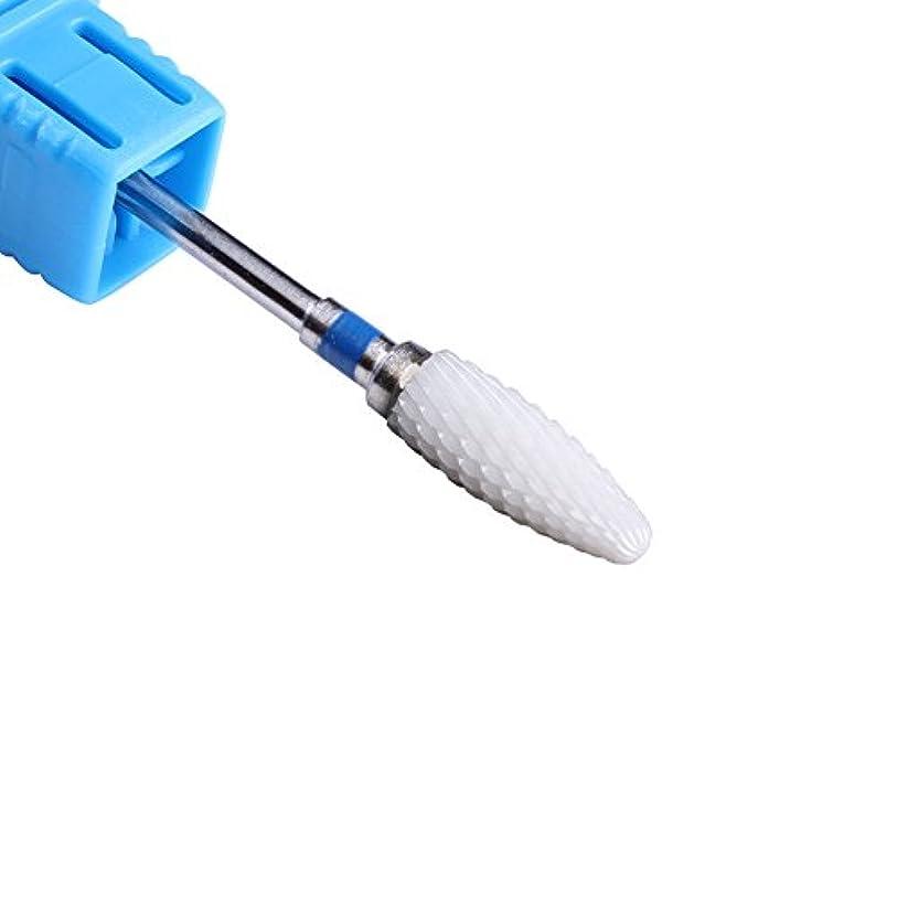 シャベルロゴ他の日ミディアム陶磁器ネイルドリルビット, 電気ドリルビット, アクリル UVゲル 除去ツール