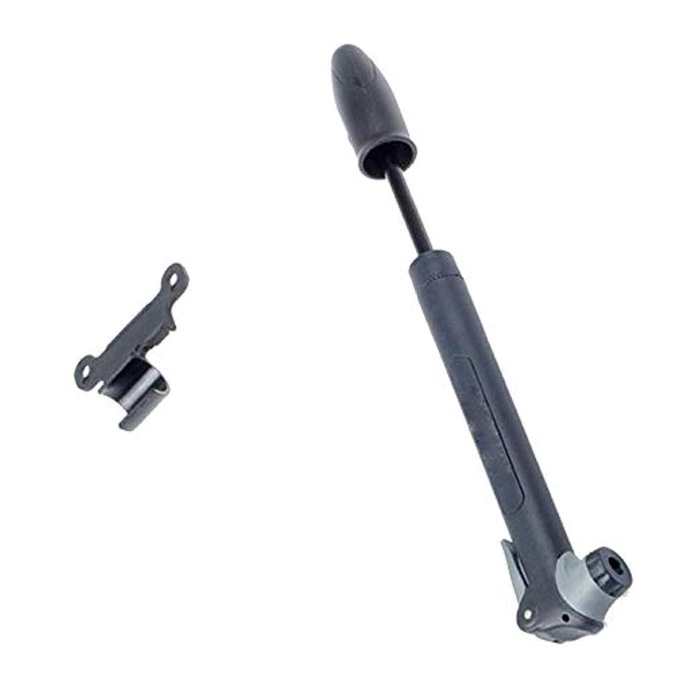 委任するチャペル予防接種自転車用ポンプ Presta&Schraderバルブ用取付金具付きプラスチック製MTBミニバイクポンプ 耐久性高 多機能 (色 : ブラック, サイズ : 23cm)