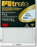 16x 25x 12200Mpr Filtrete Elite Allergenエアフィルタ–Single