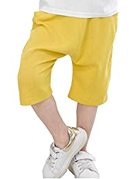 c8c6e754c3c89 子供服 男の子 ハーフパンツ 夏 ズボン ボーイズ ショーツ 潮 コットンリネン 薄手 通気性抜群 男女兼用 キッズ カジュアル チェック パンツ  ベビー 半ズボン 7分丈…