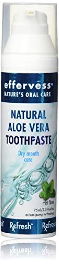 専門安心させるナチュラルEffervess Rx Refresh Natural Aloe Vera Toothpaste - Dry Mouth Care - Naturally Soothing & Moisturizing - Freshens...