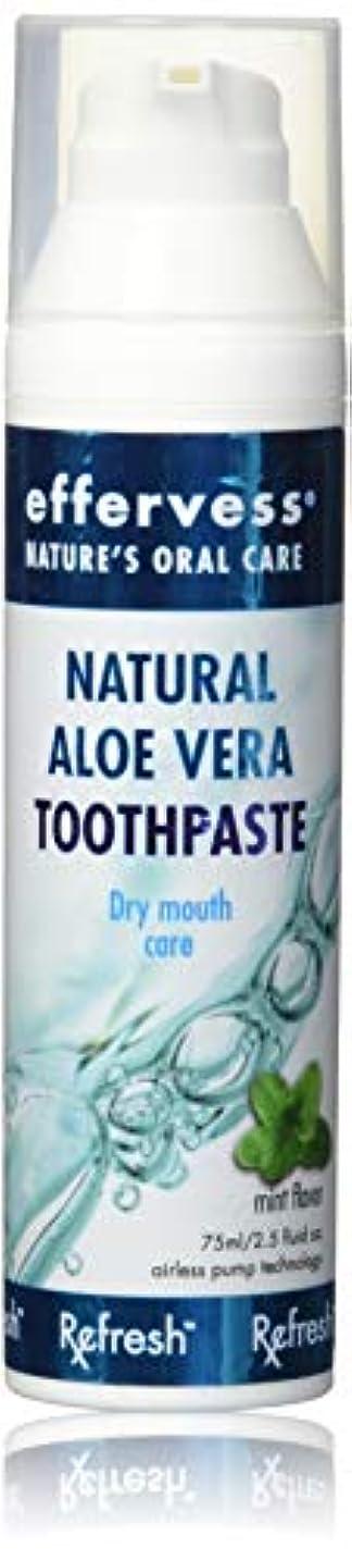 一月反抗礼拝Effervess Rx Refresh Natural Aloe Vera Toothpaste - Dry Mouth Care - Naturally Soothing & Moisturizing - Freshens...