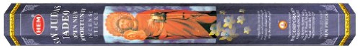 不注意かご結晶HEM(ヘム) 社 サン?ジューダス?タデーオ香 スティック SANJUDAS TADEO 6箱セット