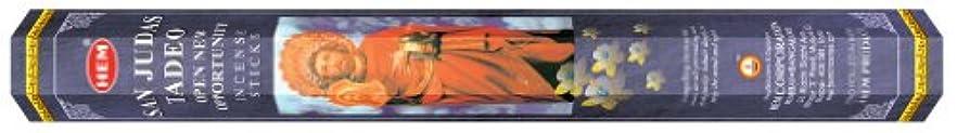 眠いですワックス予報HEM(ヘム) 社 サン?ジューダス?タデーオ香 スティック SANJUDAS TADEO 6箱セット