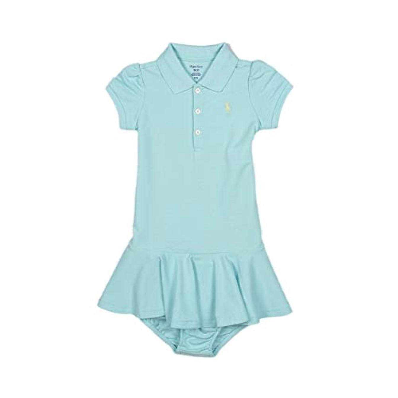 いいねインキュバス紫の(ラルフローレン)RALPH LAUREN ベビー 女の子 半袖 ポロシャツ ドレス ブルマー Piqué Polo Dress&Bloomer アイランド アクア Island Aqua [並行輸入品]