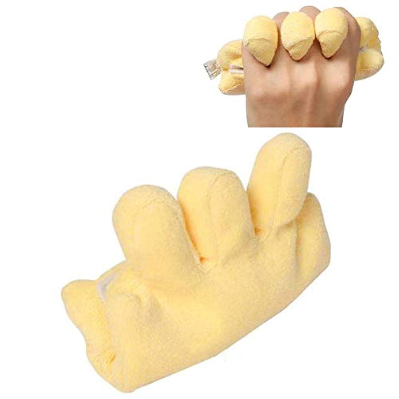 絶壁終点はがき手拘縮装具予防クッション、患者高齢者用の指セパレーター付きパームプロテクター,1PC