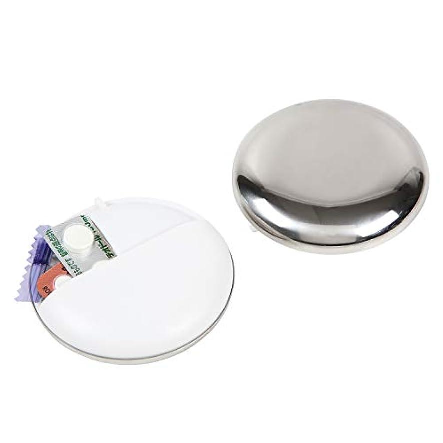 人形恋人ホーンKotonarido ピルケース お薬ケース 携帯用 円盤型 ABS樹脂&ステンレス製 (ホワイト)