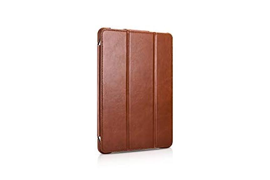 スラム街トリム書き出すiPad Pro 12.9 2018 手帳型 本革 牛革 ケース 【正規品】 ICARER iPad Pro 12.9 ビンテージレザー マグネットタイプ (iPad Pro 12.9 2018, ブラウン)