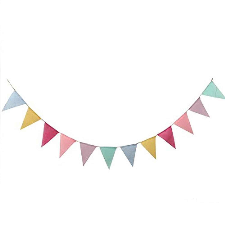 Outflower ガーランド 麻布 お誕生日 飾り付け バナー 誕生日祝い パーティー デコレーション 装飾 フラッグガー 結婚式 壁飾り 人気 クリスマス 三角形 パターン DIY