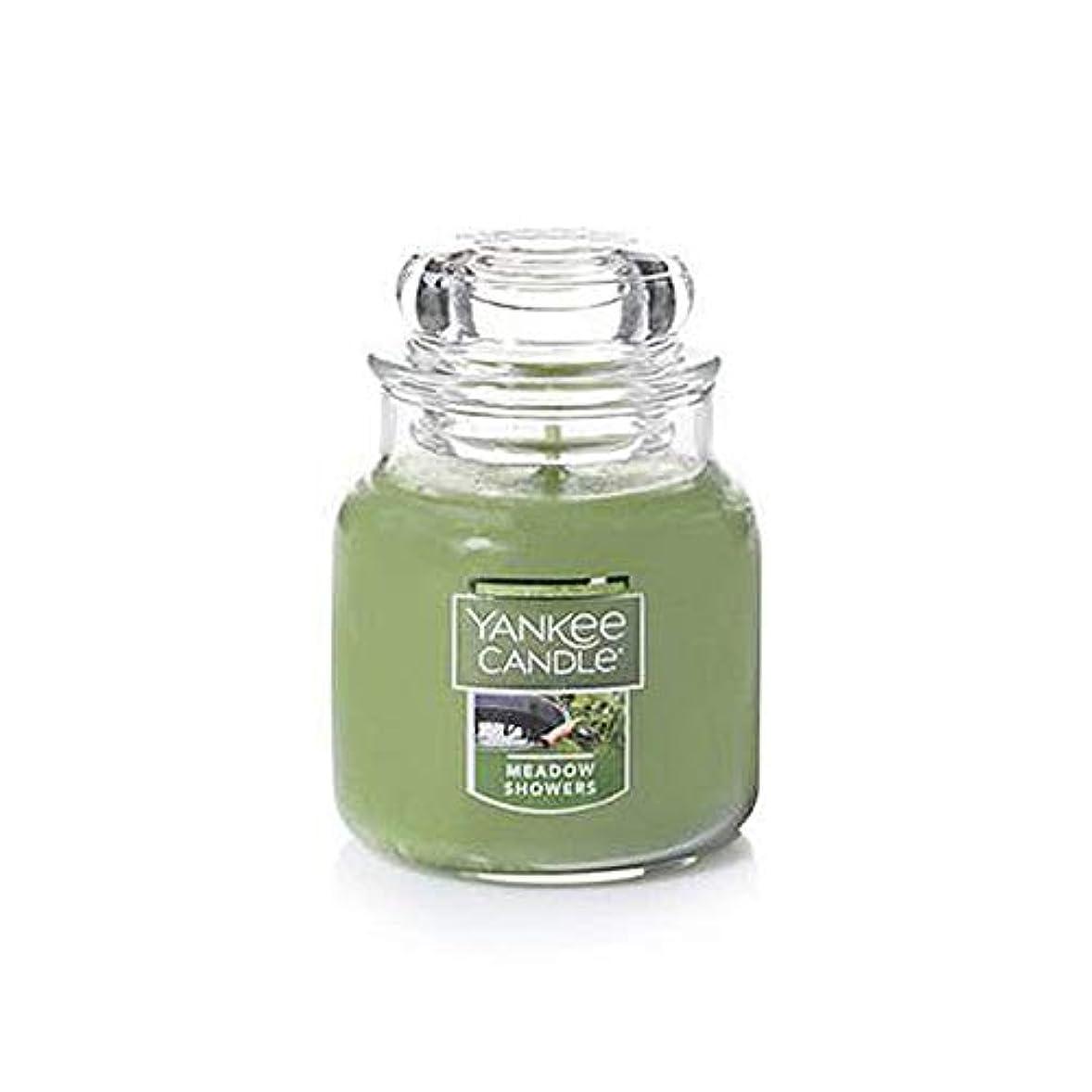 深める臨検元気なYankee Candle Meadow Showers 小型ジャーキャンドル フレッシュな香り 3.7オンス