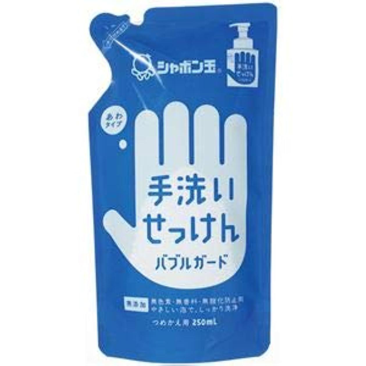 明日スティック卒業(まとめ) シャボン玉石けん 手洗いせっけんバブルガード詰替用250ml【×10セット】