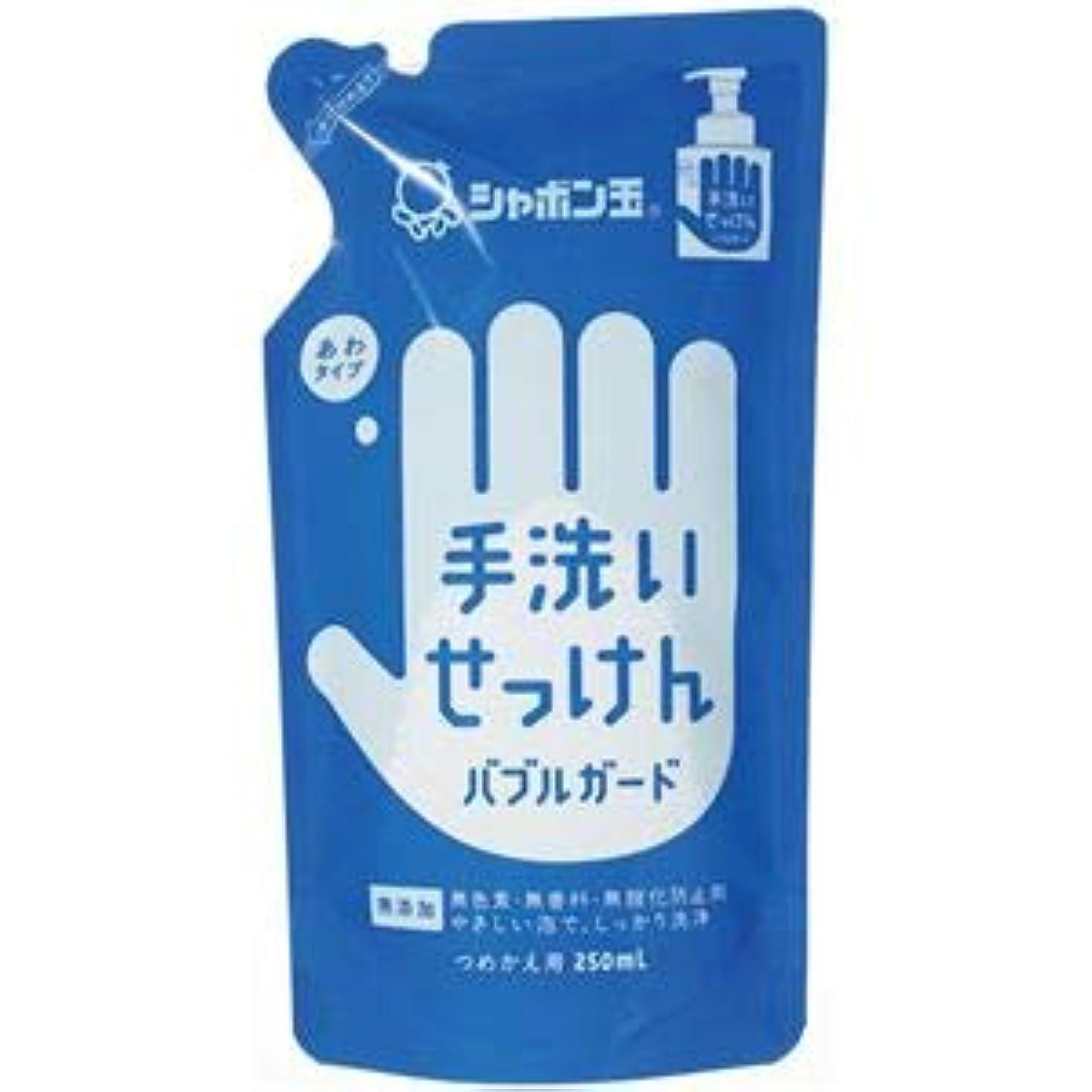 トレーダー選択コンバーチブル(まとめ) シャボン玉石けん 手洗いせっけんバブルガード詰替用250ml【×10セット】