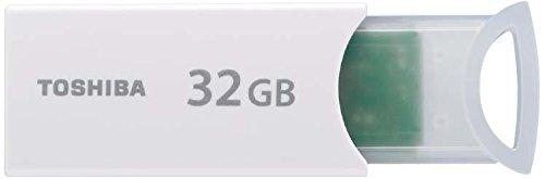 TOSHIBA USBメモリ 32GB USB2.0 ノック&スライドタイプ ホワイト 1年保証 (国内正規品) UKA-2A032GW