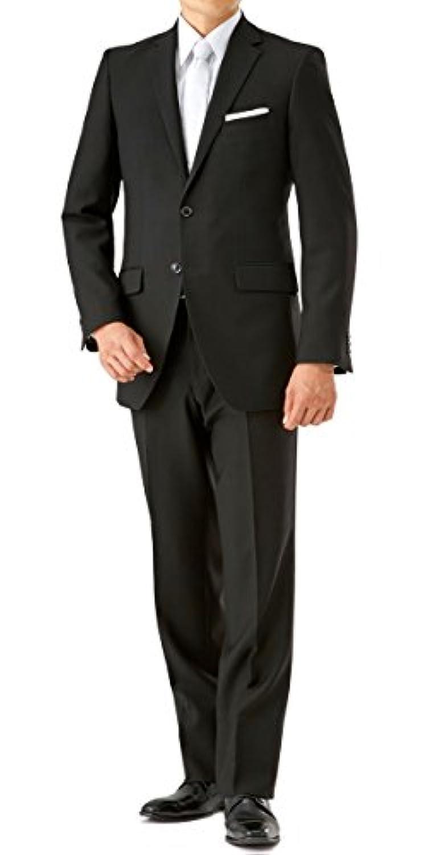 (ノワールシック)noirchic オールシーズン 2つボタン シングルフォーマル アジャスター付 メンズ ブラックスーツ 喪服 礼服