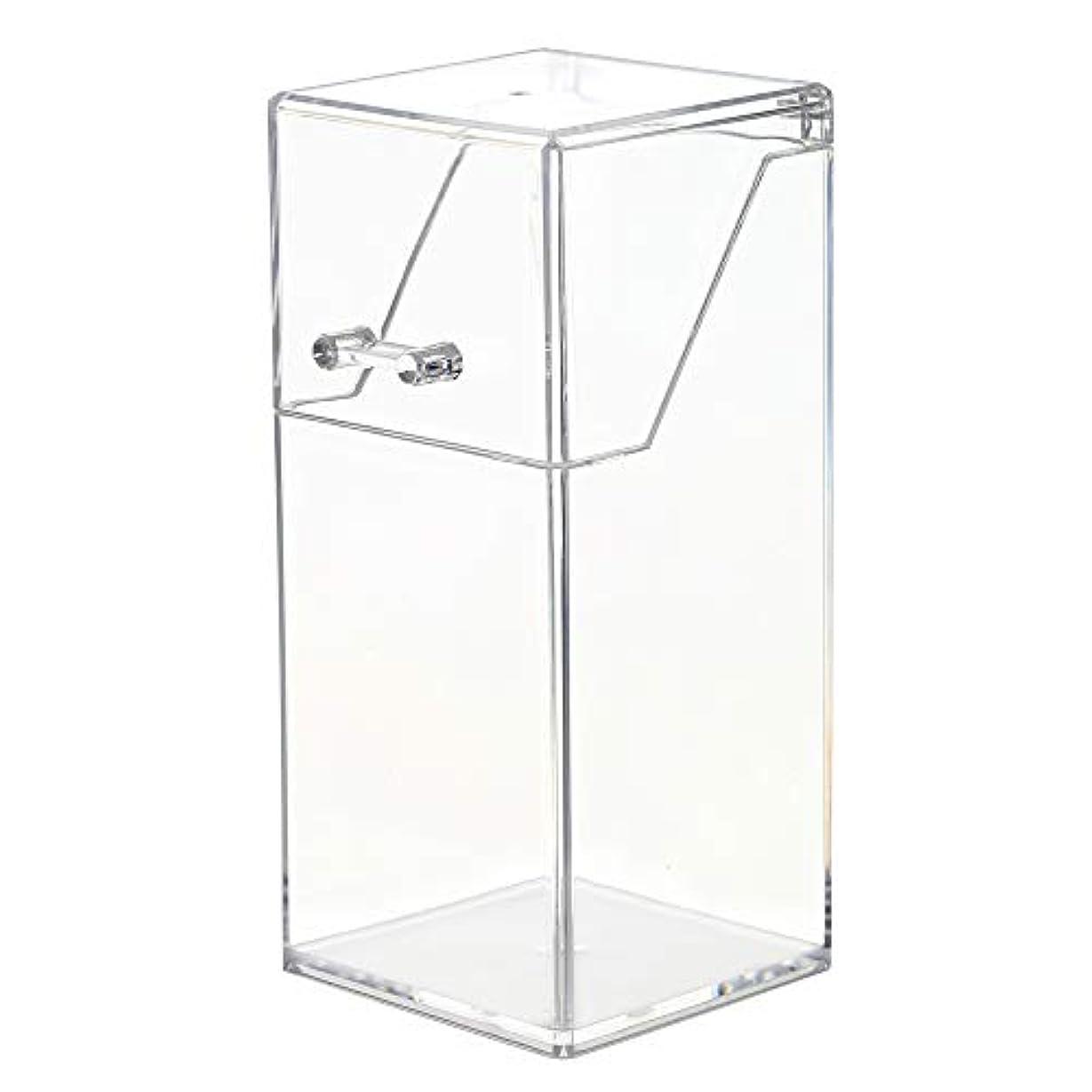 ペン機会コンピューターを使用するメイクボックス メイクブラシ収納 Decdeal 透明 ふた付き 防塵 持ち運び アクリルケース 化粧品収納ボックス 口紅 化粧ブラシ 文房具 小物入れ 卓上収納ケース