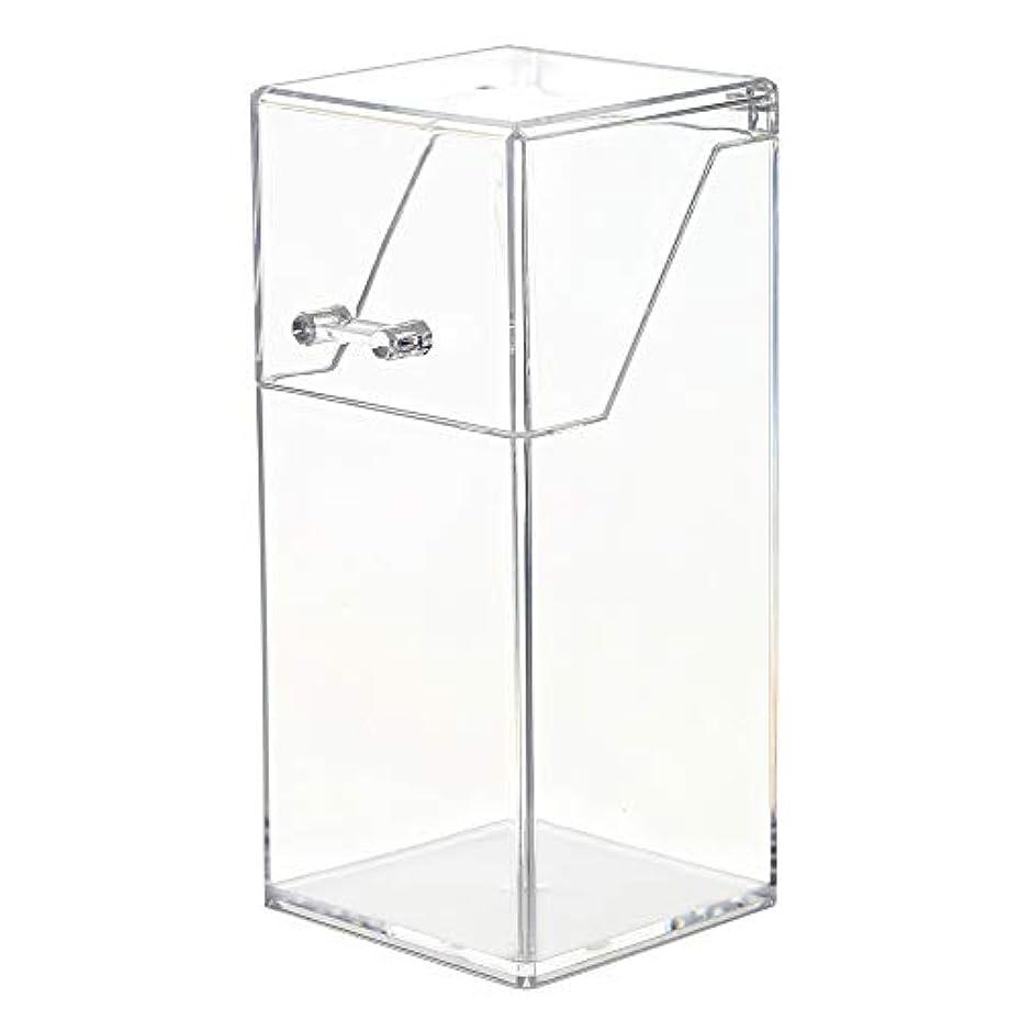 ドキュメンタリー後継飼いならすメイクボックス メイクブラシ収納 Decdeal 透明 ふた付き 防塵 持ち運び アクリルケース 化粧品収納ボックス 口紅 化粧ブラシ 文房具 小物入れ 卓上収納ケース