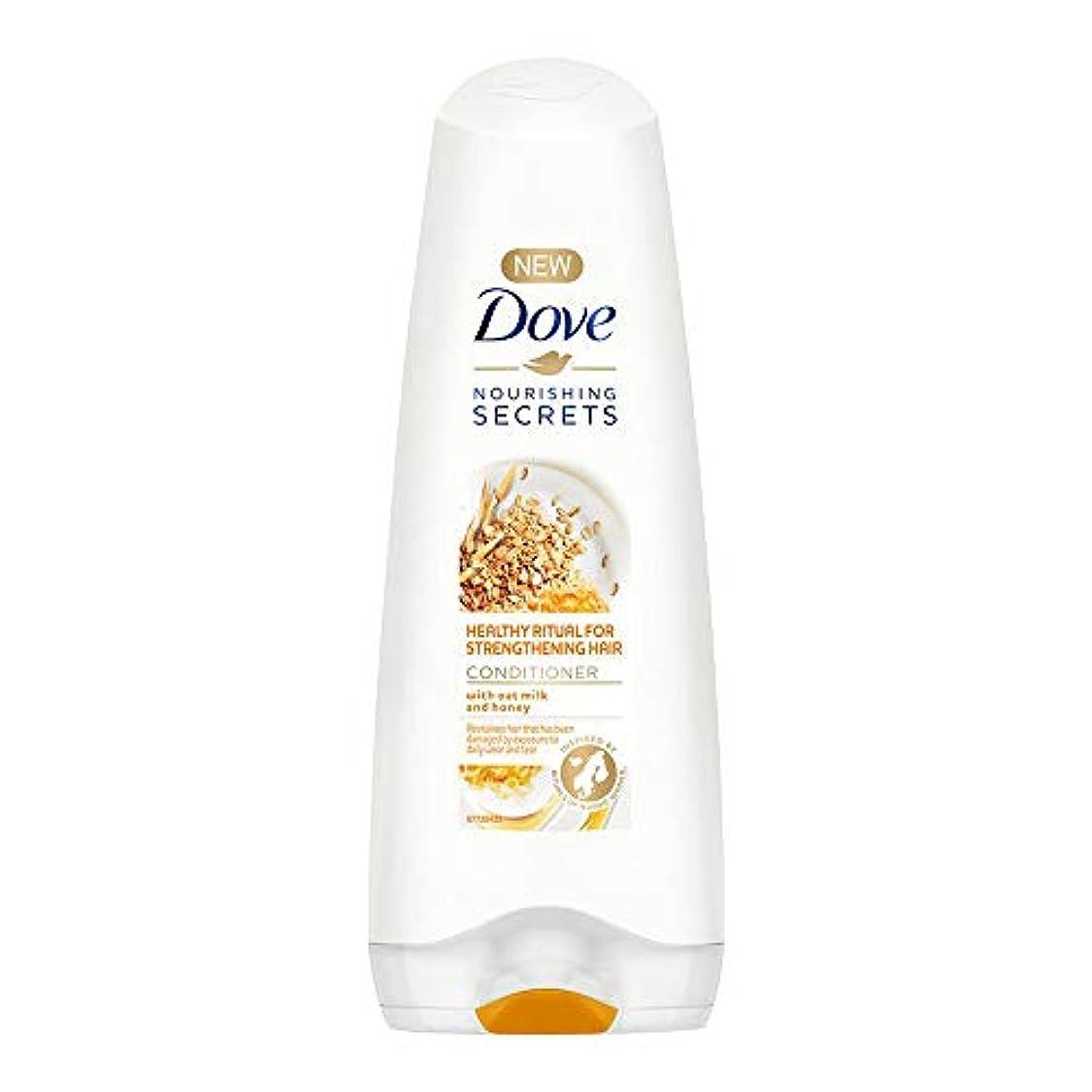 武器工業用花Dove Healthy Ritual for Strengthening Hair Conditioner, 180 ml (Oat Milk and Honey)