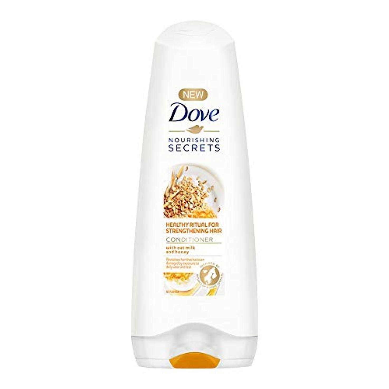 スローガン手入れ突撃Dove Healthy Ritual for Strengthening Hair Conditioner, 180 ml (Oat Milk and Honey)
