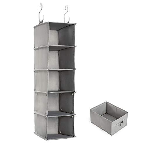 吊り下げ収納 衣類ラック 収納 クローゼット 水洗い可能 引き出し付き 防湿防カビ 折りたたみ (5階)