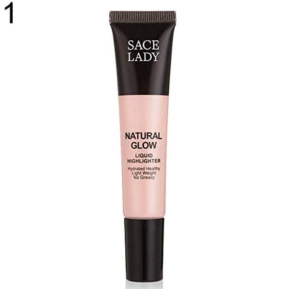 埋め込むシンプトン没頭するSACE LADY液体蛍光ペン水和非脂っこい化粧顔ブロンザー - 1#