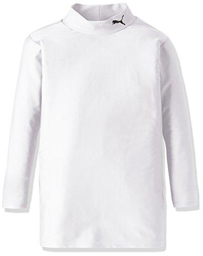 (プーマ)PUMA コンプレッション モックネック長袖シャツ 920481 [ジュニア] 13 ホワイト/ブラック 160