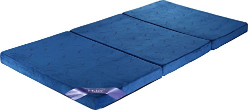 【MLILYエムリリー】三つ折マットレス 敷き布団 優反発&高反発の二層構造 シングル 厚さ8cm