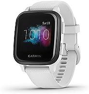 Garmin Venu Sq, GPS Fitness Smartwatch, Slate/White Band (Amazon Exclusive)