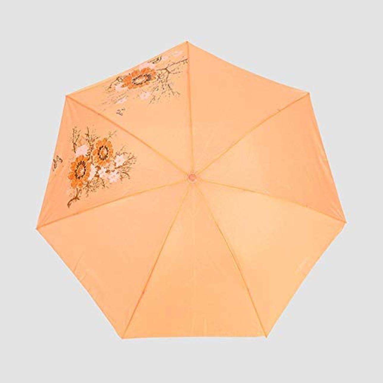 火山学軽量認知Chuangshengnet 傘ステンレス傘立て折りたたみ傘傘無地傘65x114cm (Color : オレンジ)