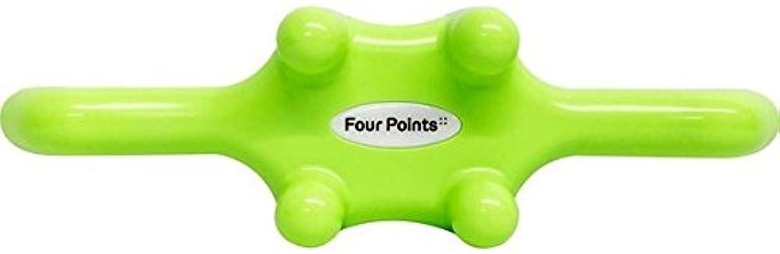 楽しむ商品文フォーポインツ Four Points グリーン(全5色) 筋膜リリース 肩こり解消グッズ 腰痛改善グッズ 頭 首 背中 脚 ふくらはぎ 足裏 ツボ押し マッサージ グッズ