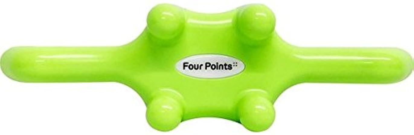 かる治安判事思われるフォーポインツ Four Points グリーン(全5色) 筋膜リリース 肩こり解消グッズ 腰痛改善グッズ 頭 首 背中 脚 ふくらはぎ 足裏 ツボ押し マッサージ グッズ