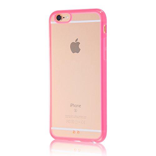 レイ・アウト iPhone6/6s ケース ハイブリッド(TPU+ポリカーボネイト) ケース クリアレッド RT-P9CC2/TR
