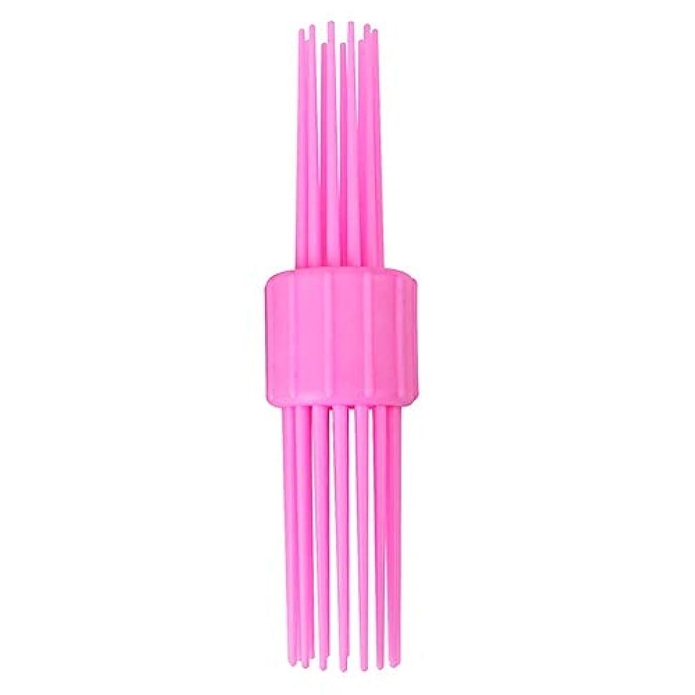 受動的砂スペイン語多機能毛の櫛ポータブルリールヘアスタイリングヘアスタイリング髪の長い波マジックペンのDIYアクセサリーメーカー、中、短い髪(ピンク)ツール