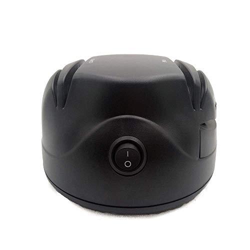 HEMFV 電動ナイフ研ぎ器、家庭用包丁研ぎシステム、黒