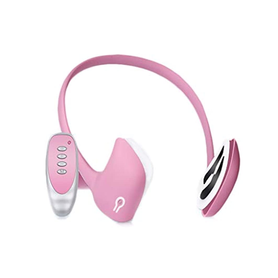 恐怖コミュニケーション起こりやすいXHLMRMJ フェイスリフティング器具、電動ツールマッサージャー、頬骨の薄い顔の引き締めの改善、フェイスブレース、多機能リフティング、男性と女性の両方に適しています (Color : Pink)