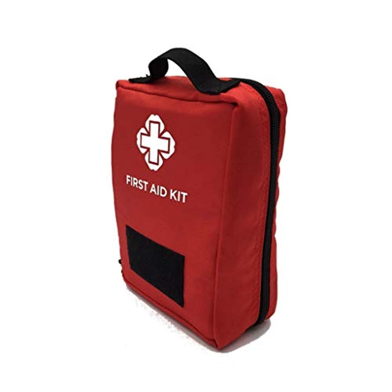 急行する建設一方、XJLXX 屋外ポータブル多目的キャンプ旅行救急キット、スポーツ医学キット、家族救急キット 医療箱 (Color : Red)