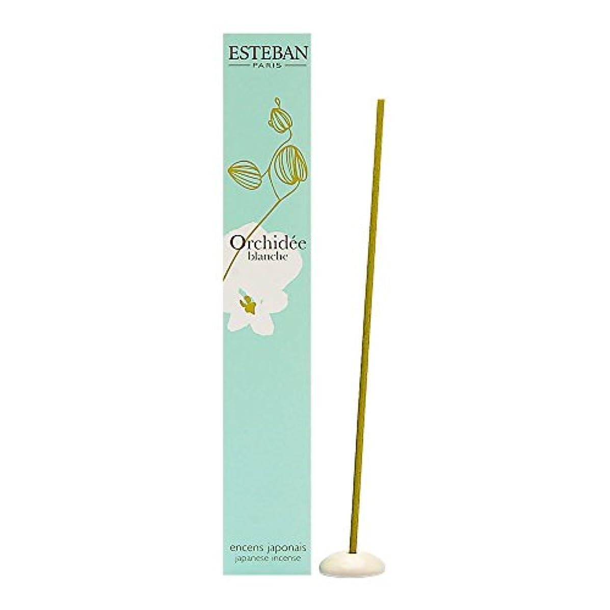 特異性ソフトウェアシャイニングEsteban Orchidee Blanche 日本のお香スティック お香スティック 40本