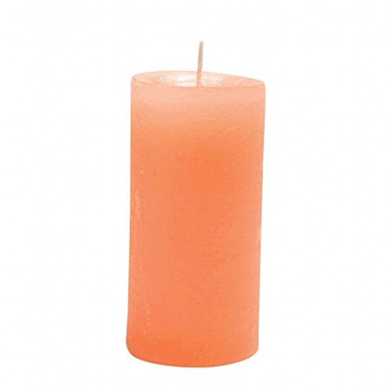 ハンカチナチュラ組立ヤンキーキャンドル( YANKEE CANDLE ) ラスティクピラー50×100 「 オレンジ 」