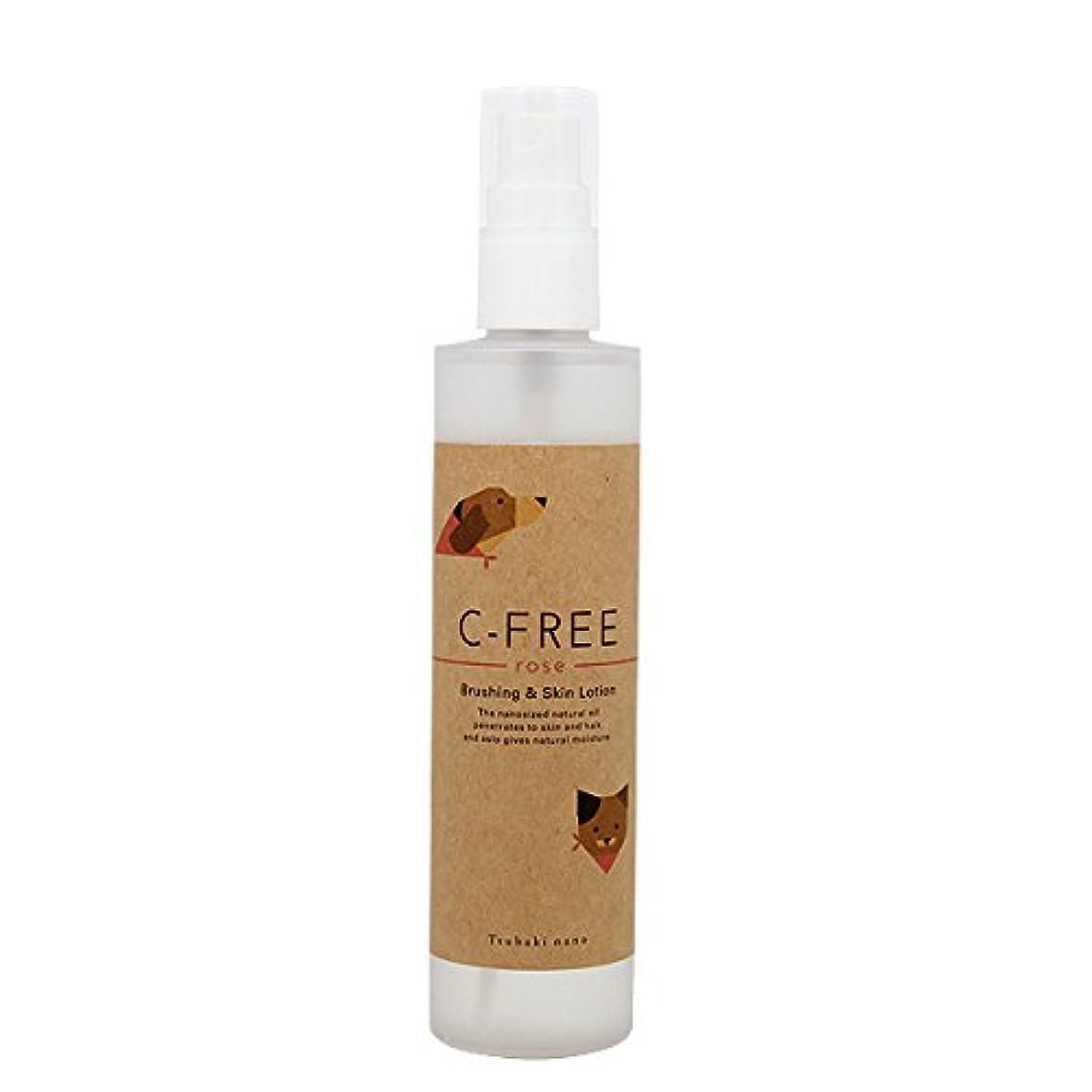 少ないブラシ合成椿なの シーフリーロゼ(天然ローズの香り)ブラッシング&スキンローション 150ml