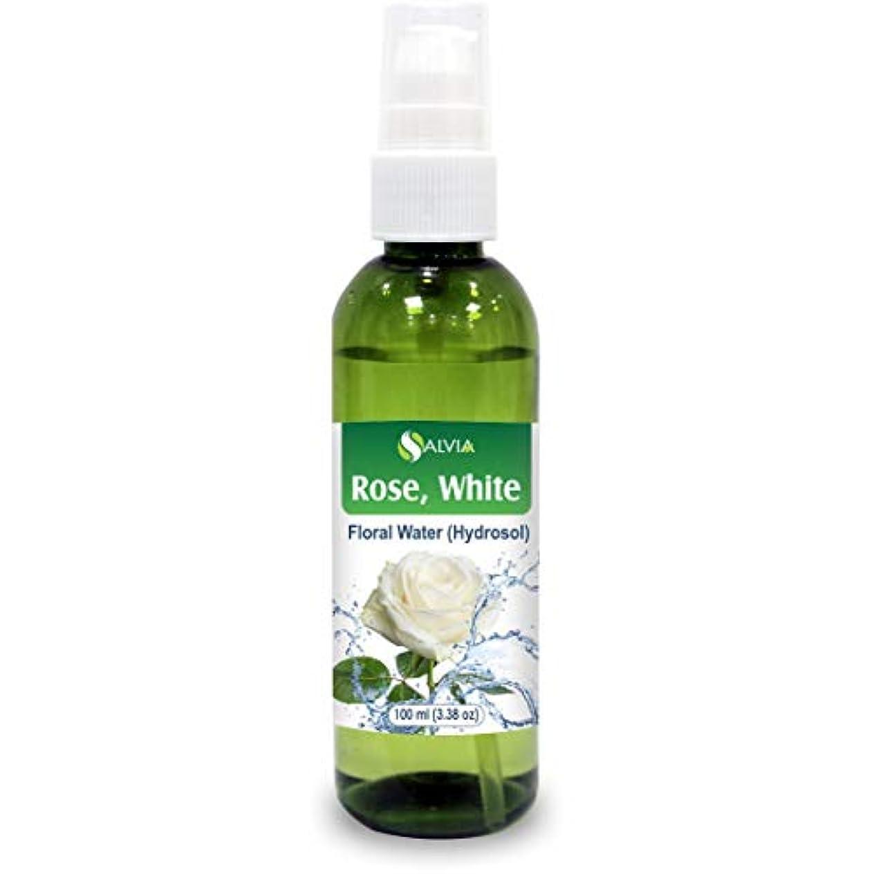 チラチラする家事Rose White Floral Water 100ml (Hydrosol) 100% Pure And Natural