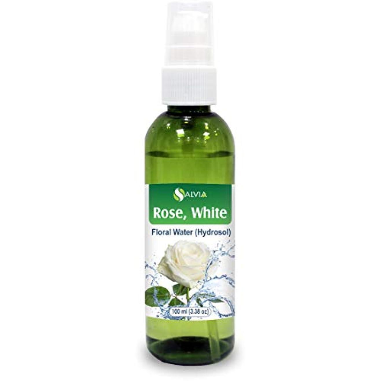 バッフルテスピアン寛大さRose White Floral Water 100ml (Hydrosol) 100% Pure And Natural