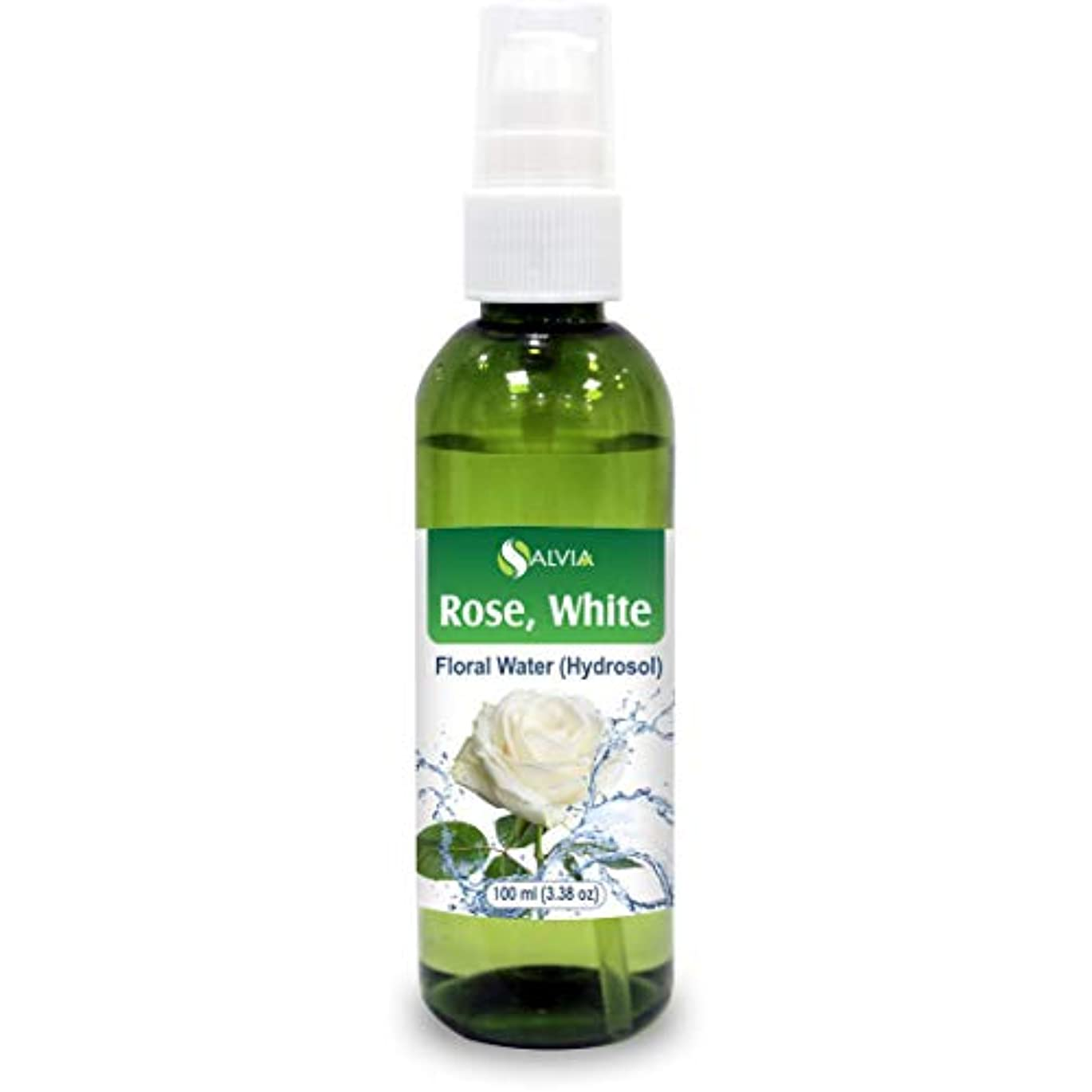 比類なき夜舗装Rose White Floral Water 100ml (Hydrosol) 100% Pure And Natural