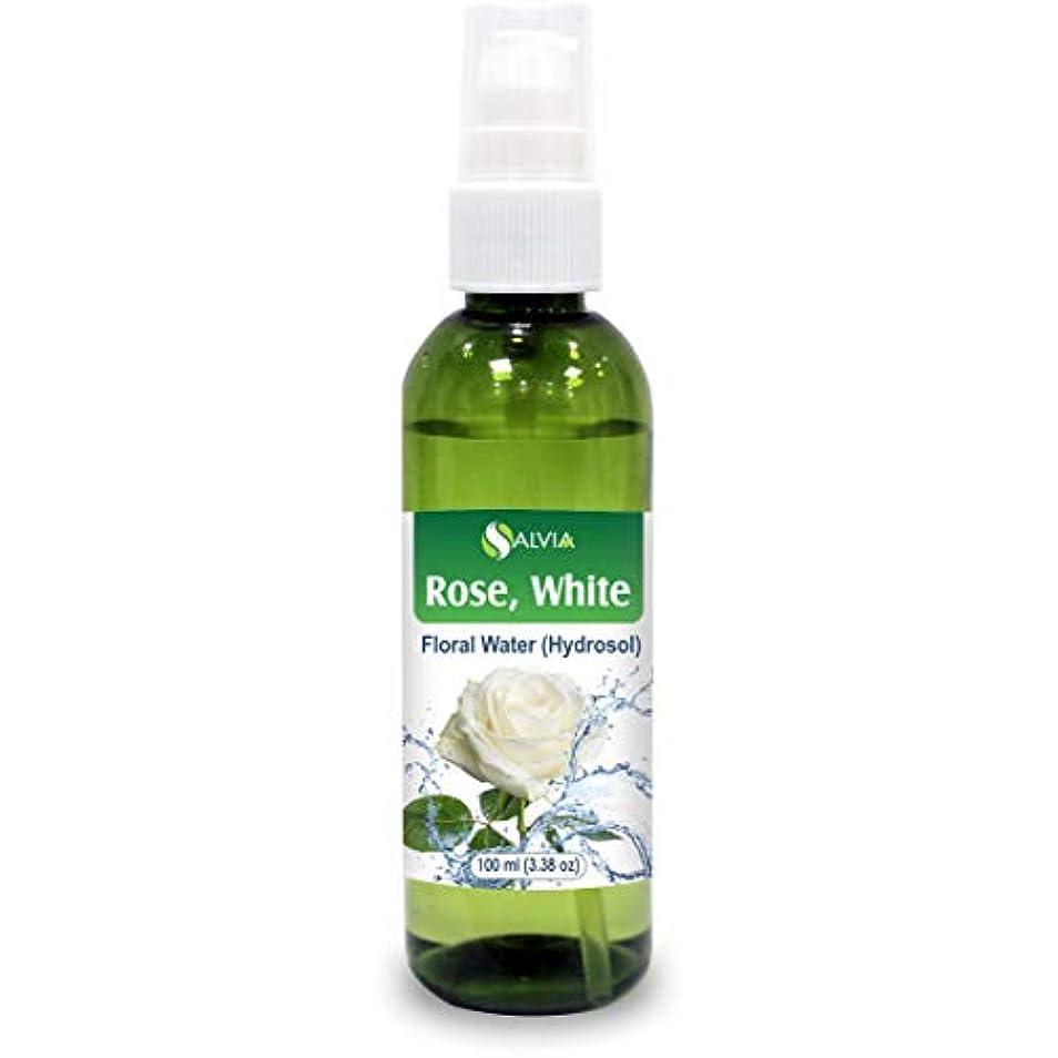 メンタルびっくりする有効化Rose White Floral Water 100ml (Hydrosol) 100% Pure And Natural