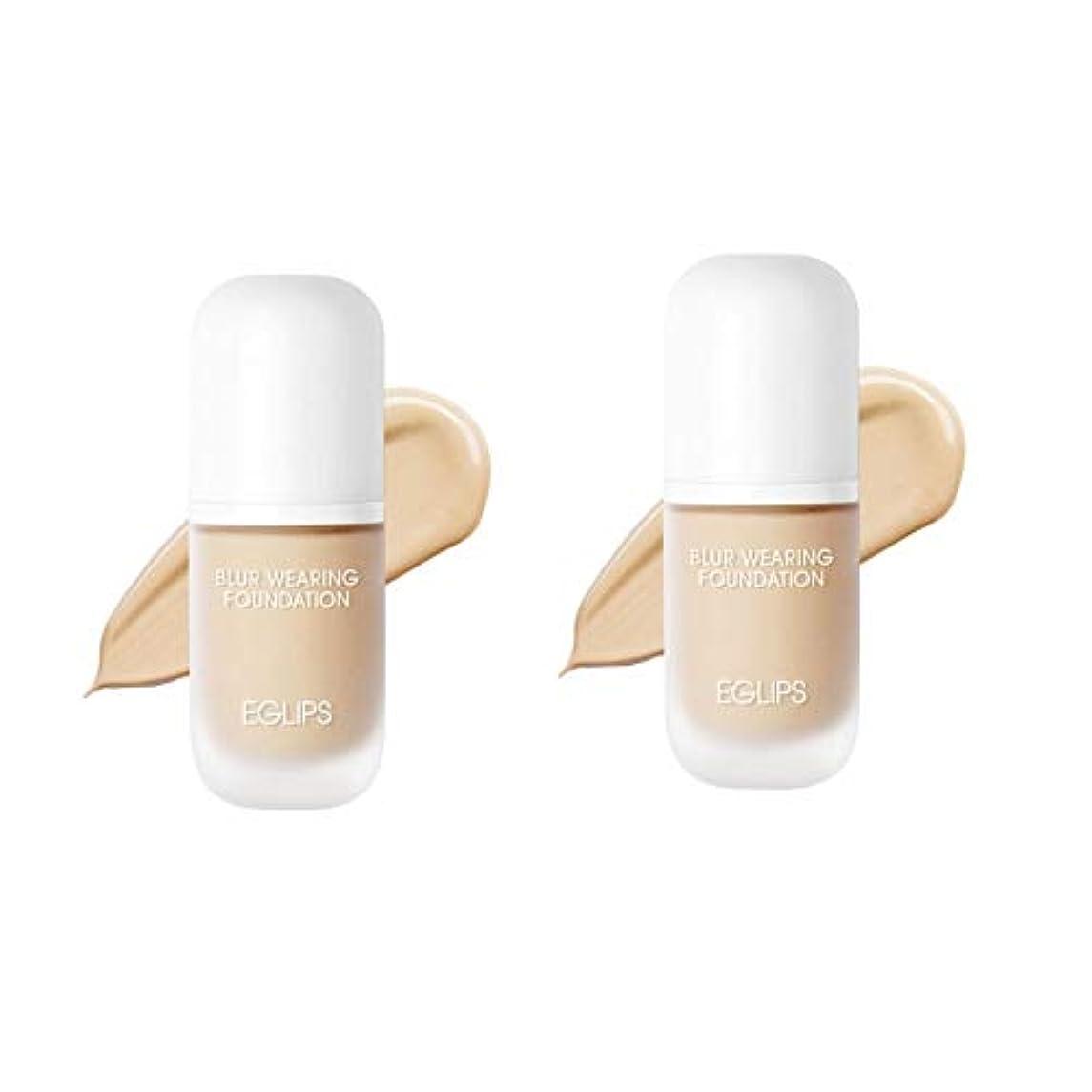 経歴解き明かす登るイーグルリップスブラーウェアリングファンデーション 30mlx2本セット3カラー韓国コスメ、EGLIPS Blur Wearing Foundation 30ml x 2ea Set 3 Colors Korean Cosmetics...