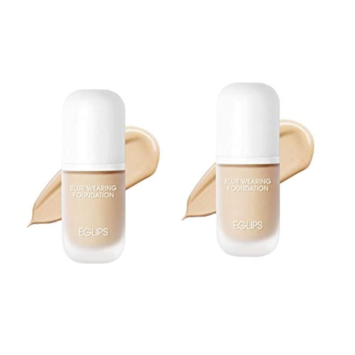 要件カレッジ見捨てられたイーグルリップスブラーウェアリングファンデーション 30mlx2本セット3カラー韓国コスメ、EGLIPS Blur Wearing Foundation 30ml x 2ea Set 3 Colors Korean Cosmetics...