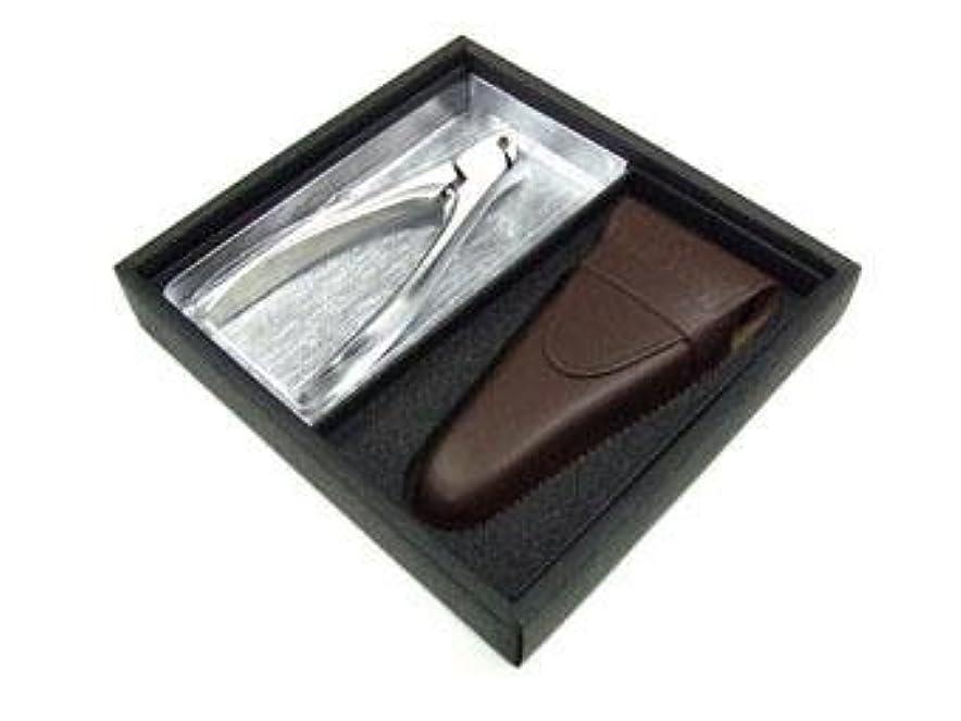 ウェイターによると困難SUWADA つめ切り クラシックL 革ケースセット(ギフト用化粧箱入り)