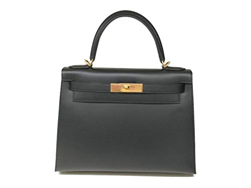 エルメス ケリー28/ HERMES Kelly bag 28 Sellier Black Epsom leather Gold hardware ヴォーエプソン 外縫い ブラック ゴールド金具