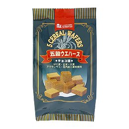 創健社 五穀ウエハース 30個入 ×3個 セット (自然 健康 食品) (五穀入り お菓子)