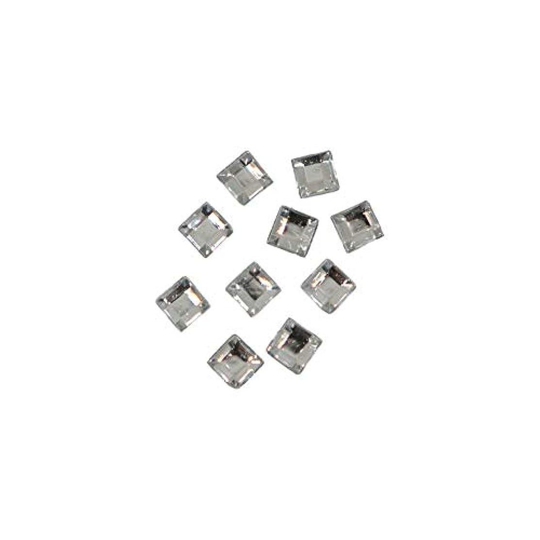 アスリートシャープ小間スクエアストーン 30粒 / 色々使える四角いアクリルストーン (クリスタル2.5mm)